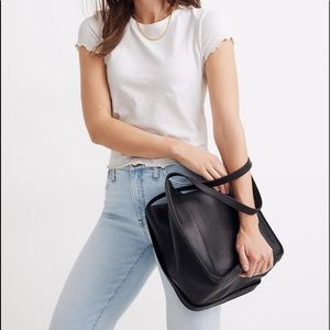 Madewell The Sydney Tote leather black AI575